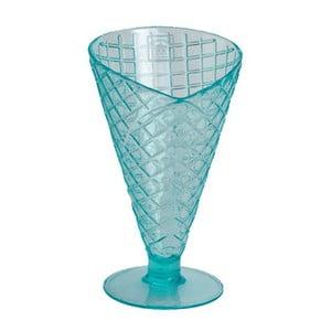 Modrý plastový zmrzlinový pohár Navigate Sundae Cone