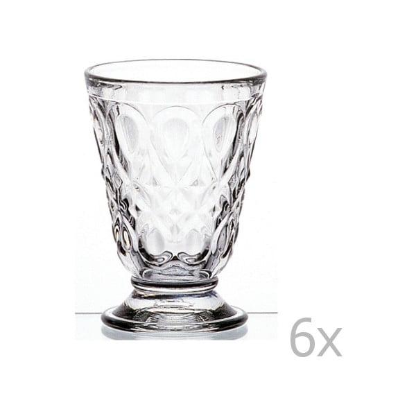 Sada 6 čírych pohárov Lyonnais, 200 ml