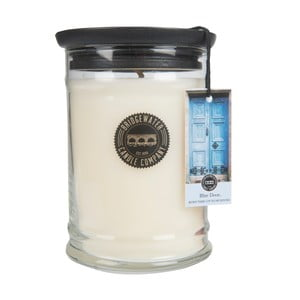 Veľká sviečka v skle Bridgewater Candle Company Sweet Blue Door, doba horenia 125 - 145 hodín