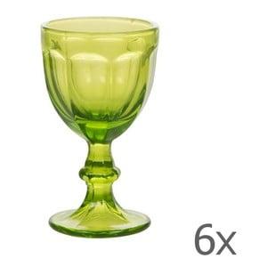 Sada 6 pohárov Calici Vino Green