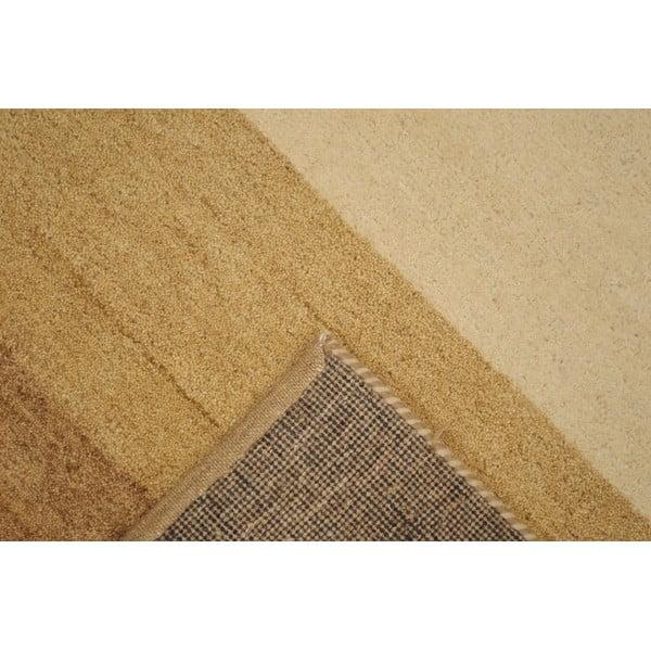 Vlnený koberec Baku Stripe Beige, 70x140 cm