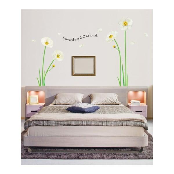 Samolepka Ambiance White Poppies Flowers