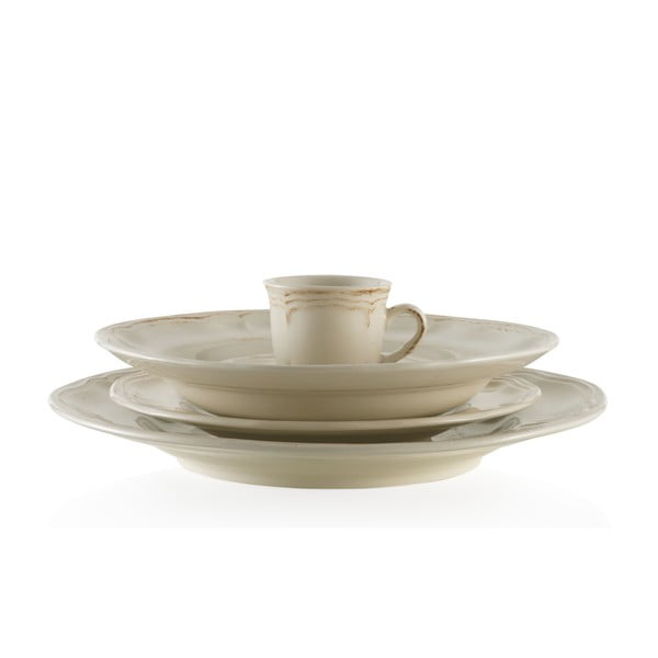 Jedálenský keramický set Melange Cream