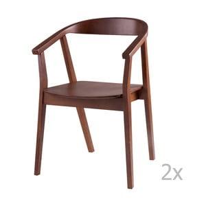 Sada 2 jedálenských stoličiek v dekore orechového dreva sømcasa Donna