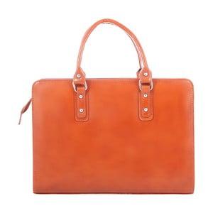 Karamelová kožená taška Chicca Borse Camilla