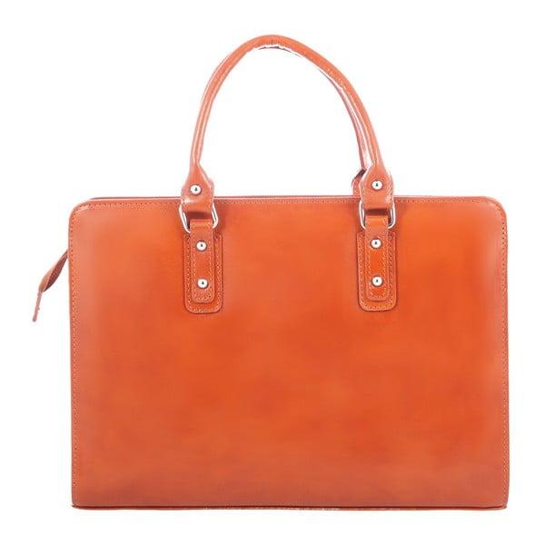 Karamelová kožená taška Camilla