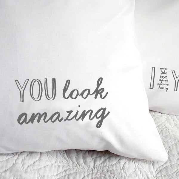 Obliečka na vankúš You Look Amazing, 50x70 cm