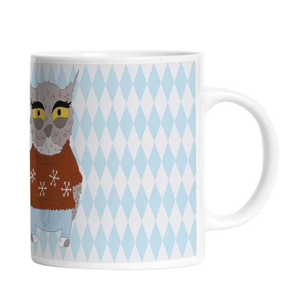 Keramický hrnček Angry Owl, 330 ml