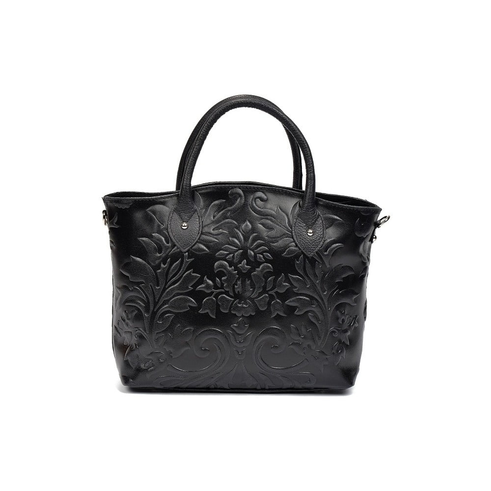 Čierna kožená kabelka Renata Corsi Anna  492d234050c