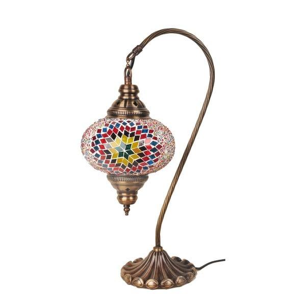 Sklenená ručne vyrobená lampa Fishing Andrea, ⌀ 17 cm