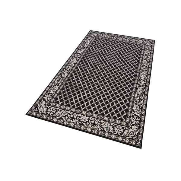 Čierny koberec vhodný aj do exteriéru Royal, 115×165cm