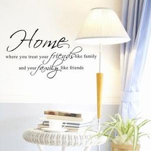 Dekoratívna samolepka Family & Friends, 45x80 cm