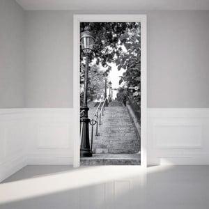 Adhezívna samolepka na dvere Ambiance Parisian Stairs