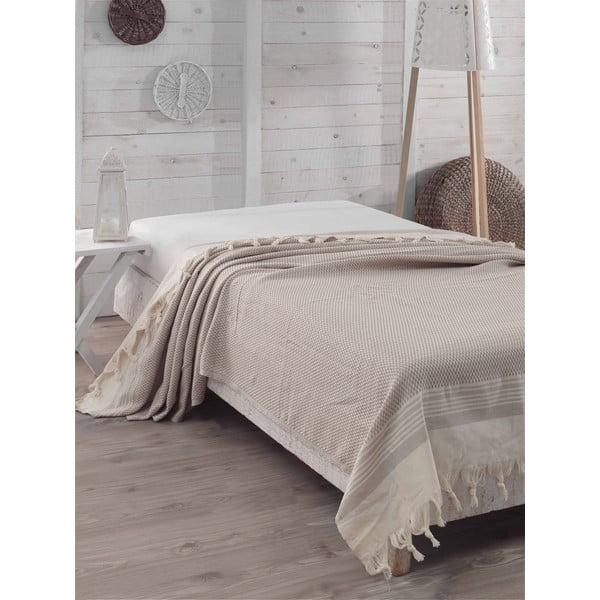 Prikrývka cez posteľ Light Brown Sugar, 200 x 240 cm