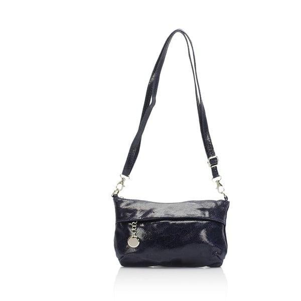 Modrá kožená kabelka Lisa Minardi Lola