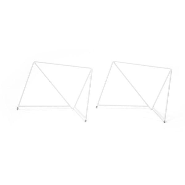 Dve kovové nohy stolu Diamond Coffee White