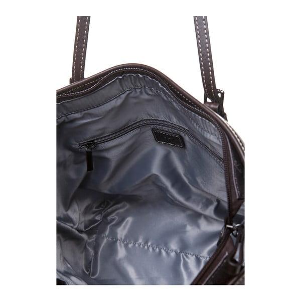 Kožená kabelka cez rameno Canguru Tag, hnedá