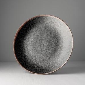 Čierny keramický tanier Made In Japan Tenmokku, ⌀ 29 cm