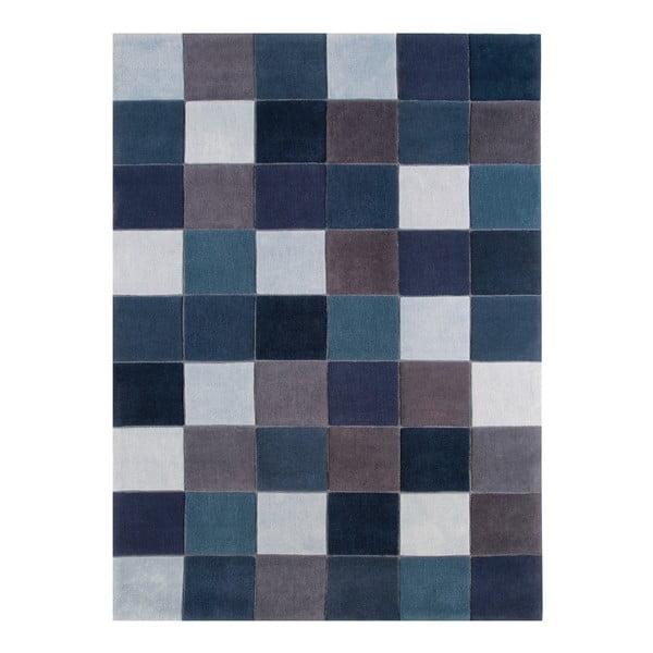 Koberec Asiatic Carpets Eden Pixel Blue, 160x230 cm