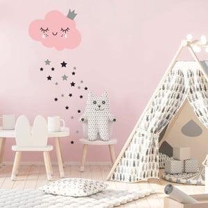 Sada samolepiek na stenu Ambiance Pink Clound and Stars