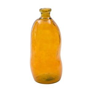 Oranžová váza z recyklovaného skla Mauro Ferretti Bot, výška 73 cm