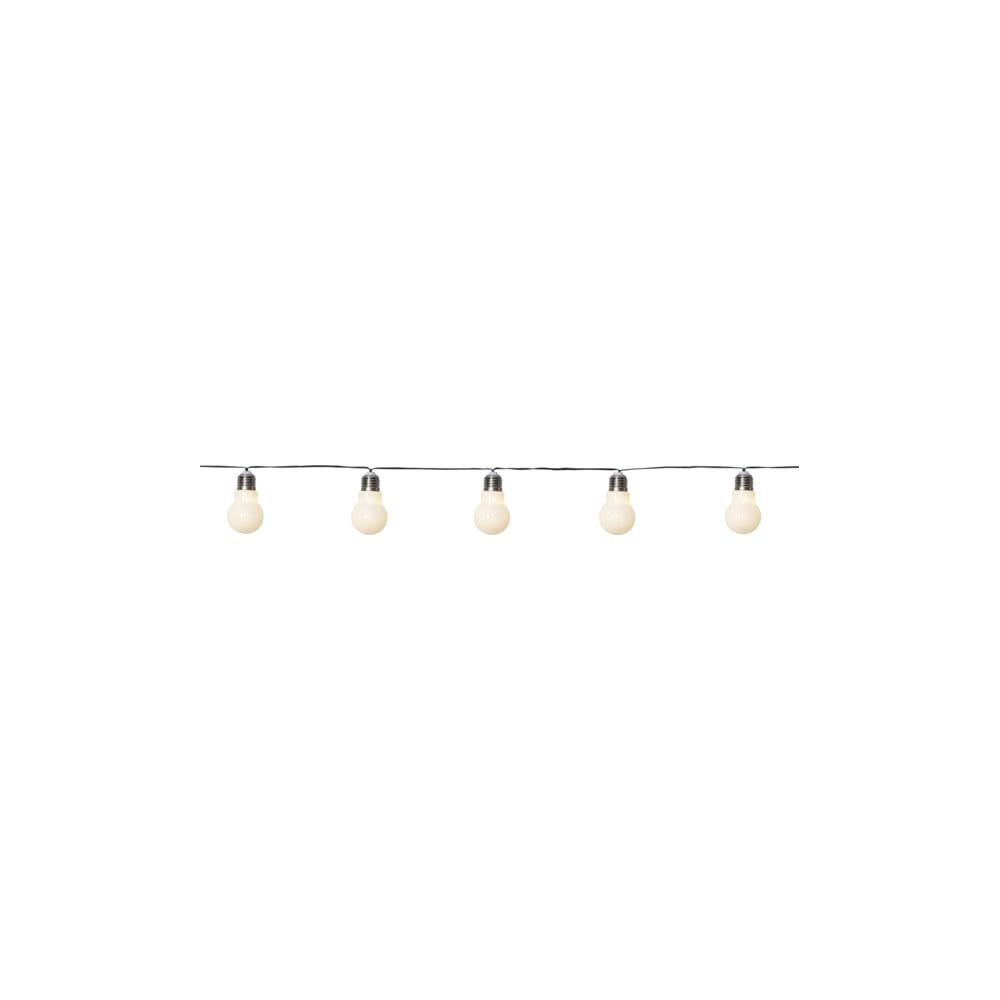 Vonkajšia svetelná LED reťaz s motívom žiaroviek Best Season Glow, 5 svetielok