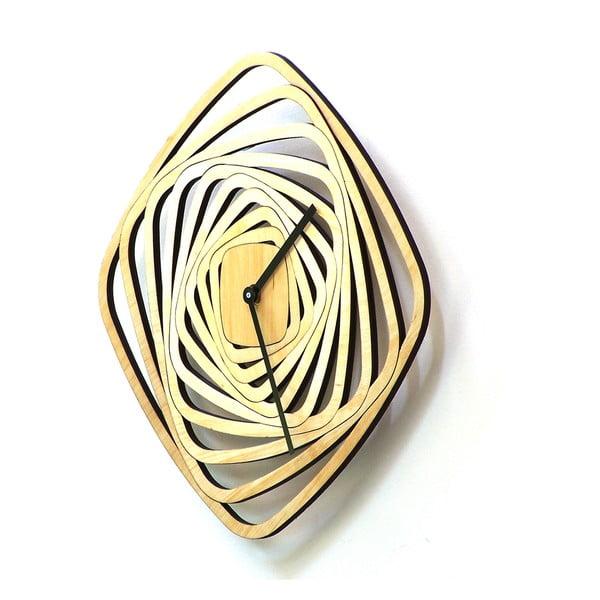 Drevené hodiny Whirl, 29 cm