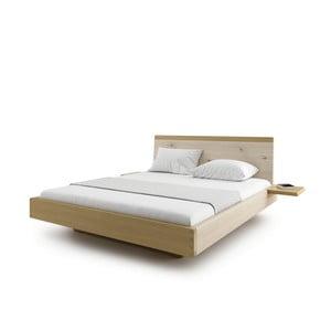 Prírodná dvojlôžková posteľ z masívneho dubového dreva JELÍNEK Amanta, 200 x 200 cm