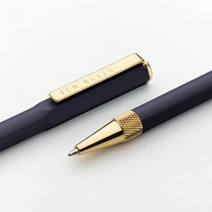 Tmavomodré pero so zlatými detailmi Ted Baker Dark Saphire