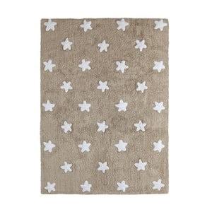 Béžový bavlnený ručne vyrobený koberec Lorena Canals Stars, 120 x 160 cm