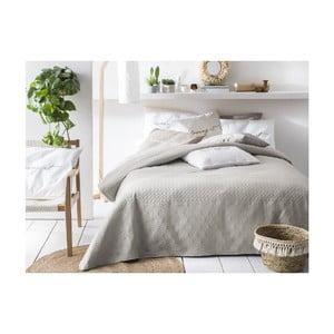 Béžový pléd cez posteľ Slowdeco Buenos, 220×240 cm