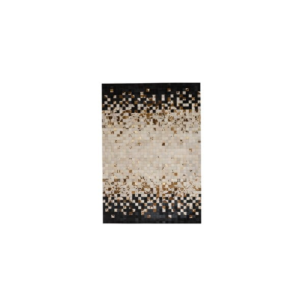 Kožený koberec Rain Brown, 170x240 cm