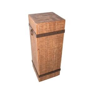 Odkládací stolek z topolového dřeva Antic Line Billot, výška 90 cm