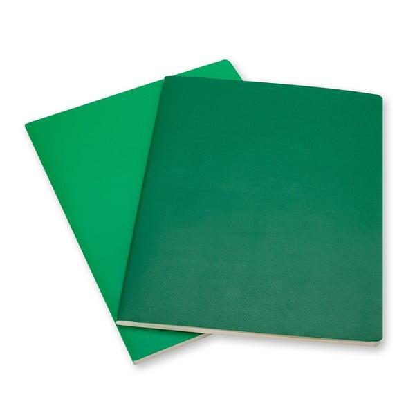 Sada 2 notesov Moleskine Emerald, linkované 25x19 cm