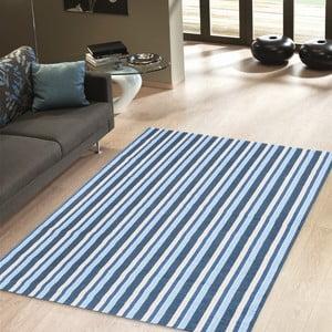 Vysokoodolný kuchynský koberec Stripes Blue, 80x130 cm