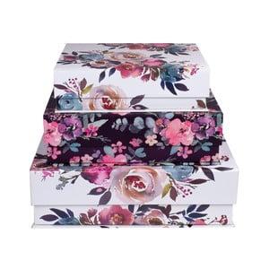 Sada 3 úložných magnetických boxov Tri-Coastal Design Flowerina
