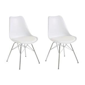 Sada 2 bielych jedálenských  stoličiek Støraa Jenny