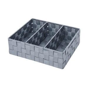 Sivý kúpeľňový organizér Wenko Adria Mini Grip