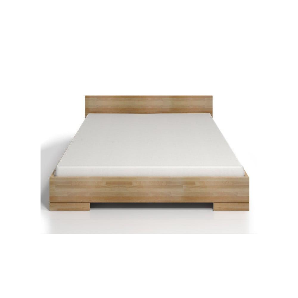 Dvojlôžková posteľ z bukového dreva Skandica Spectrum Maxi, 140 × 200 cm