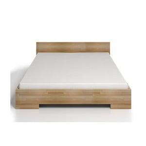 Dvojlôžková posteľ z bukového dreva s úložným priestorom SKANDICA Spectrum Maxi, 200×200cm