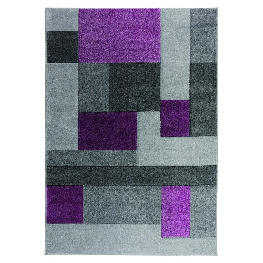 Sivo-fialový koberec Flair Rugs Cosmos, 200 x 290 cm