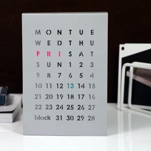Magnetický kalendár na stôl Perpetual Calendar, sivý