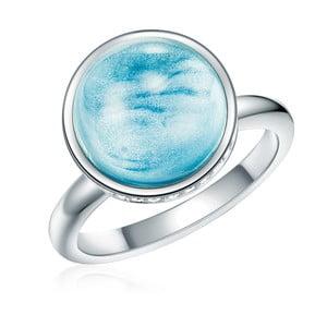 Prsteň v striebornej a tyrkysovej farbe s krištáľmi Swarovski Lilly & Chloe Sea, veľ. 52
