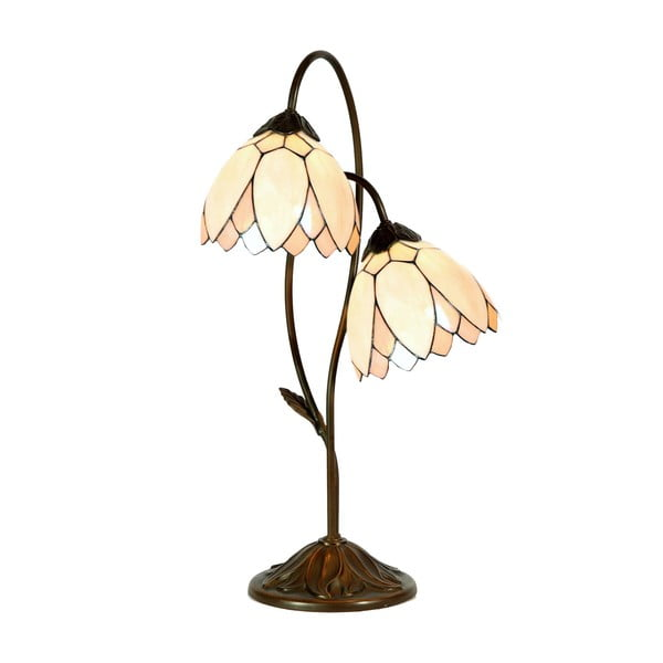 Tiffany stolová lampa Flowers