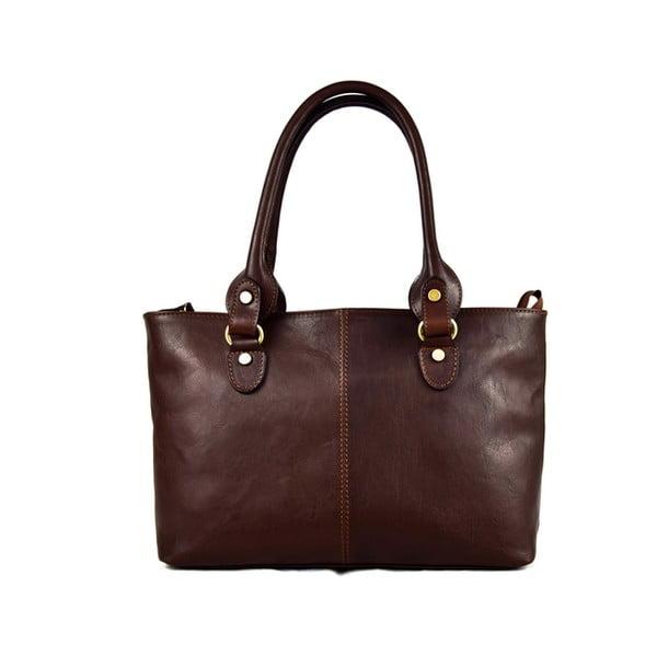 Kožená taška Santo Croce 132088 Dark Brown