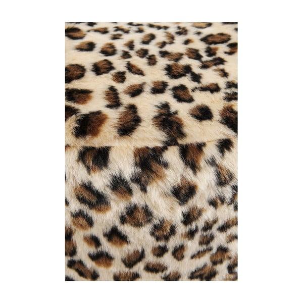 Stolička s leopardím vzorom Kare Design Cherry Leo, ∅35 cm