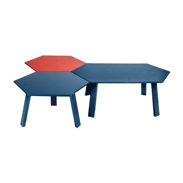Konferenčný stolík Hexagon Blue, 105x37x61 cm