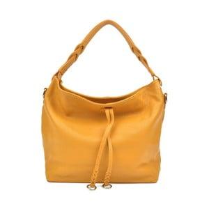 Žltá kožená kabelka Carla Ferreri Camila Lento