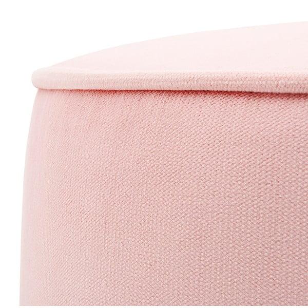 Detský ružový sedací puf PumPim Ava