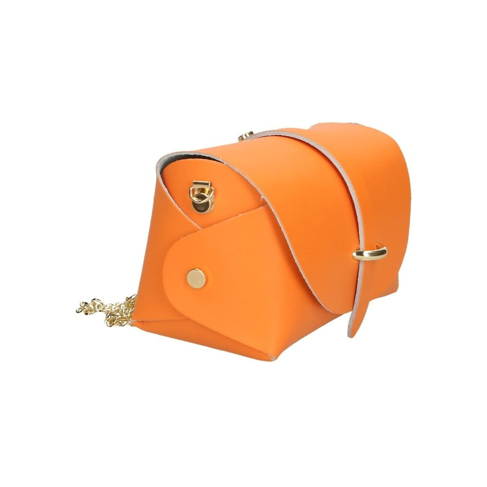 ... Oranžová kožená kabelka Chicca Borse Jaquel ... a4595904ef8